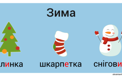 Зима – winter vocabulary in Ukrainian