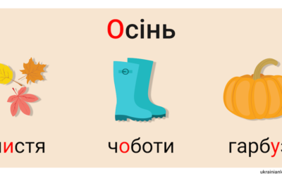 Осінь – Autumn vocabulary in Ukrainian