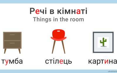 Речі в кімнаті – Things in the room in Ukrainian