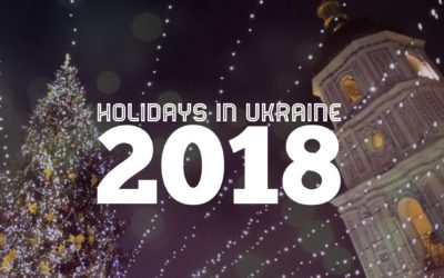 Holidays in Ukraine in 2018 (in Ukrainian and English)