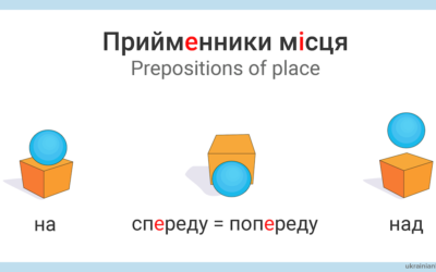 Прийменники місця – Prepositions of place in Ukrainian
